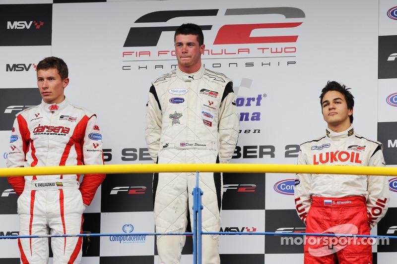 Podium: winnaar Dean Stoneman, 2de Vasilauskas, 3de Sergey Afanasiev