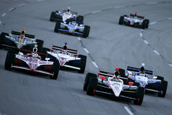 Helio Castroneves, Team Penske leads the pack