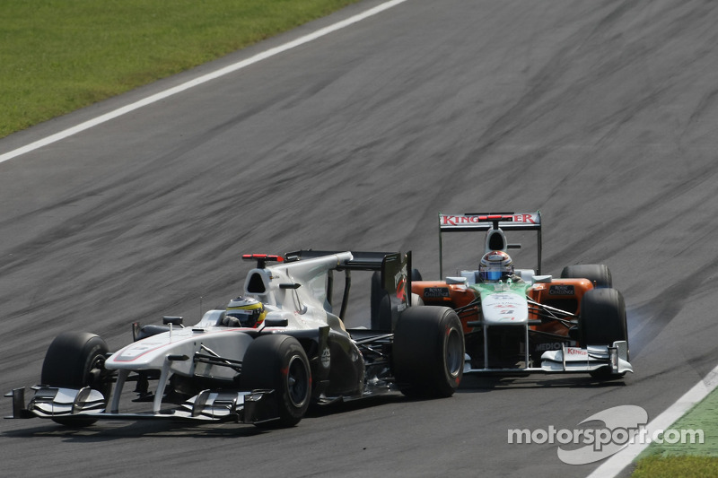 Pedro de la Rosa, BMW Sauber F1 Team and Adrian Sutil, Force India F1 Team