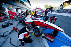 Esteban Gutierrez in the pits with the team