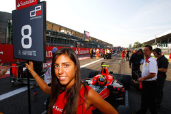 The grid girl of Rio Haryanto