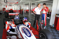 Jonathan Palmer CEO MotorSport Vision, with son Jolyon Palmer