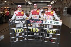 100ая гонка Тимо Шайдера, Audi Sport Team Abt Audi A4 DTM, Мартин Томчик, Audi Sport Team Abt Audi A4 DTM и Маттиас Экстрем