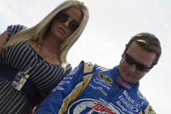 Kurt Busch, Penske Racing Dodge and his wife, Eva Busch