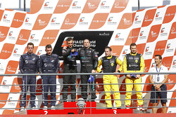 Podium: race winners Michael Bartels and Andrea Bertolini, third place Marc Hennerici and Alexandros Margaritis
