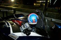 Race winner Stéphane Sarrazin gets out of the car