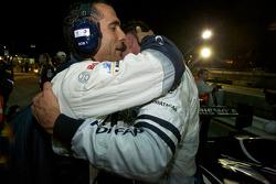Race winner Stéphane Sarrazin celebrates