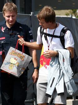 Sebastian Vettel, Red Bull Racing with a hello kitty bag