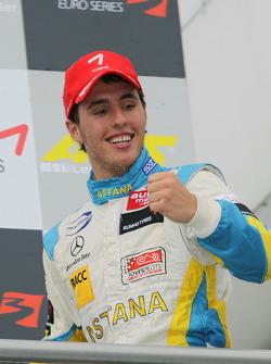Podium: race winner Daniel Juncadella, Prema Powerteam Dallara F308 Mercedes