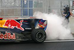 Le moteur de la Red Bull de Sebastian Vettel a explosé
