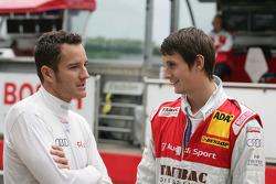 Timo Scheider, Audi Sport Team Abt Audi A4 DTM et Oliver Jarvis, Audi Sport Team Abt Audi A4 DTM
