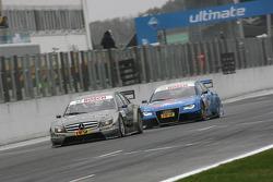 Bruno Spengler, Team HWA AMG Mercedes C-Klasse et Alexandre Prémat, Audi Sport Team Phoenix Audi A4 DTM
