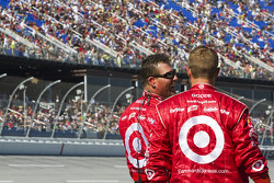 The Target crew waits out on pit road for Juan Pablo Montoya to pass by
