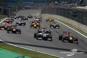 Start of last year's Brazilian GP