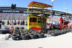 Kevin Harvick's pit area