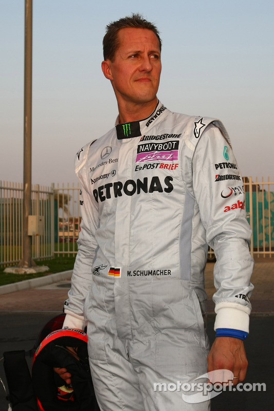 Vitantonio Liuzzi, Force India F1 Team en Michael Schumacher, Mercedes GP crash