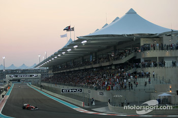 Overtaking is difficult at Abu Dhabi