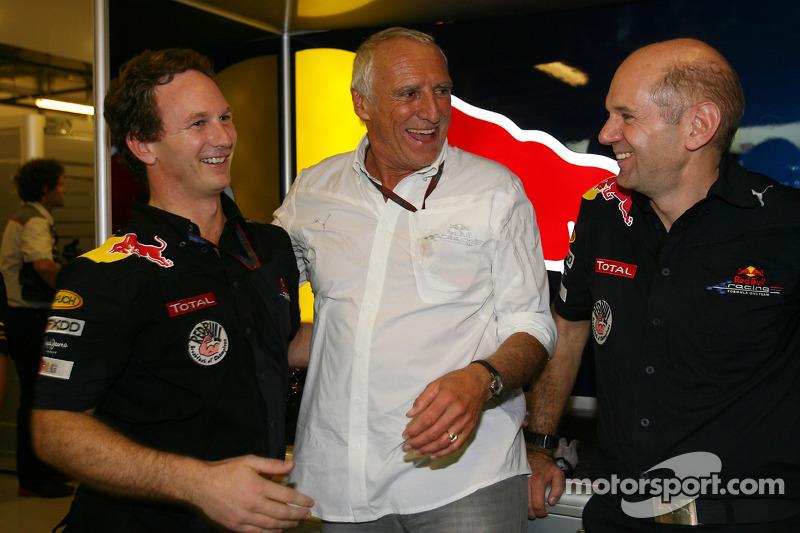 Christian Horner, Red Bull Racing, Sporting Director met Dietrich Mateschitz, Owner of Red Bull en A