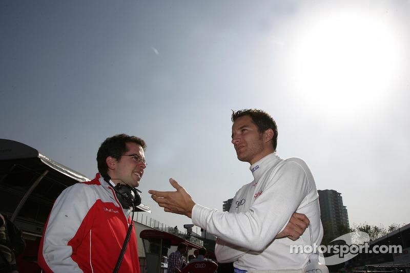 Timo Scheider, Audi Sport Team Abt Audi A4 DTM met ingenieur Pascal Zurlinden