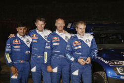 Volkswagen Motorsport: corijder Lucas Cruz Senra, Dirk Von Zitzewitz, Ralph Pitchford en Timo Gottschalk
