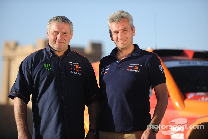 Team X-raid: rijder Leonid Novitskiy en corijder Andreas Schulz