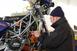 Préparation des motos
