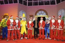 Evénement Natale Bimbi : Luca Badoer, Marc Gene, Felipe Massa, Luca di Montezemolo, Giancarlo Fisichella, Jules Bianchi, Fernando Alonso
