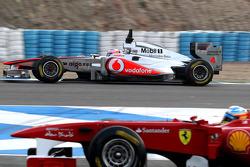 Jenson Button, McLaren Mercedes, Fernando Alonso, Scuderia Ferrari