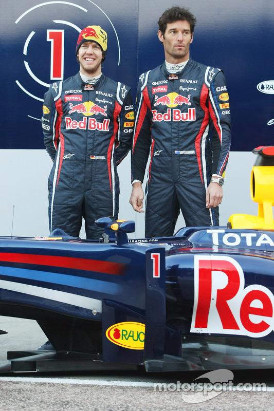 Sebastian Vettel, Red Bull Racing; Mark Webber, Red Bull Racing