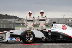 Kamui Kobayashi und Sergio Perez, Sauber F1 Team