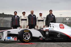 Monisha Kaltenborn, directora Sauber F1 Team, Peter Sauber, presidente de Sauber F1 Team, Sergio Pér