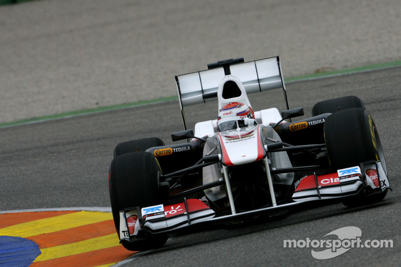 kamui kobayashi sauber f1 team test valence en f vrier photos formule 1. Black Bedroom Furniture Sets. Home Design Ideas