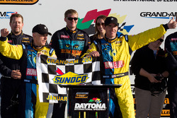 GS victory lane: race winners Nick Longhi and Matt Plumb