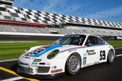 Speedweeks 2011 launch ceremony: #59 Brumos Racing Porsche GT3: Andrew Davis, Hurley Haywood, Leh Keen, Marc Lieb