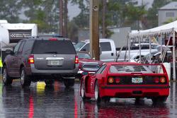 Ferrari F40 in the rain