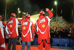 Fernando Alonso, Scuderia Ferrari, Felipe Massa, Scuderia Ferrari, Marc Gene, test driver Scuderia Ferrari