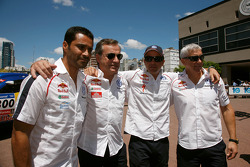 Nasser Al Attiyah, Carlos Sainz, Giniel De Villiers y Mark Miller