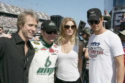 Transformer Director Michael Bay, Dale Earnhardt Jr., Hendrick Motorsports Chevrolet, Rosie Huntington-Whiteley, Josh Duhamel