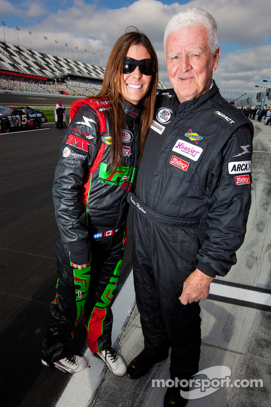 Maryeve Dufault and James Hylton at Daytona