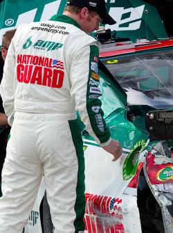 Dale Earnhardt Jr., Hendrick Motorsports Chevrolet after crashing