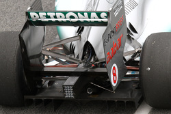 Mercedes GP technical detail, rear wing and diffuser