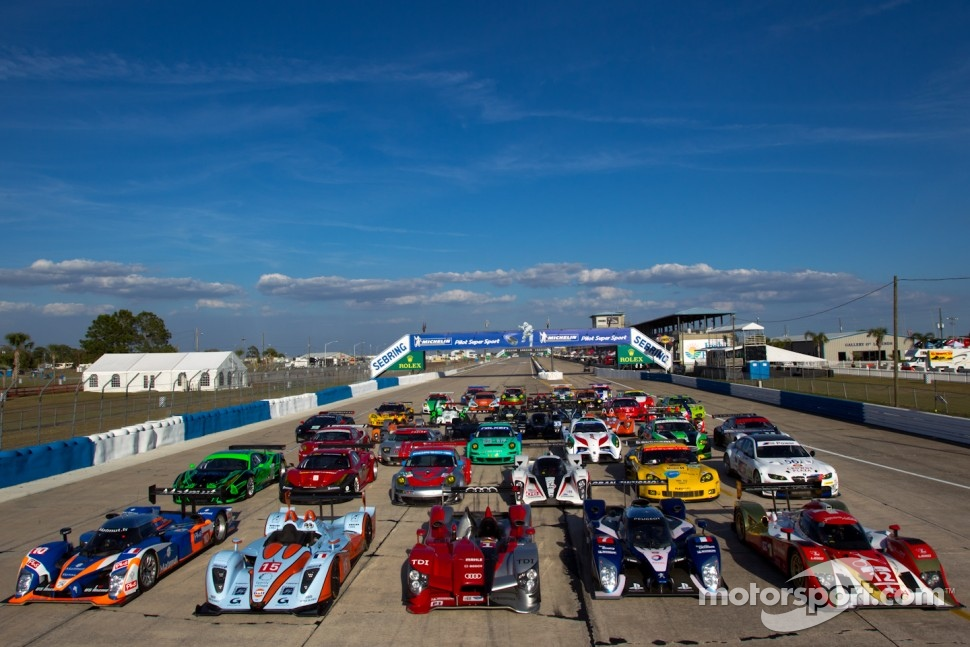 2011 group shot of the 12 Hours of Sebring cars