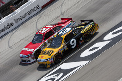Marcos Ambrose, Petty Motorsport Ford and Trevor Bayne, Wood Brothers Racing Ford