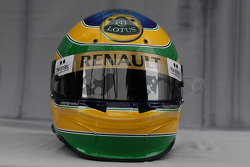 Helmet of Bruno Senna, test driver, Renault F1 Team