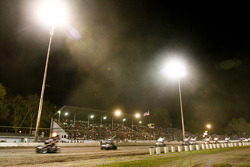 Plenty of dust kicked up during green flag racing