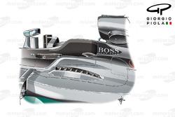 Mercedes F1 W07: Lamellen neben dem Cockpit, Grand Prix von Ungarn