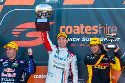 Podium: 1. Craig Lowndes, Triple Eight Race Engineering, Holden; 2. Jamie Whincup, Triple Eight Race Engineering, Holden; 3. Chaz Mostert, Rod Nash Racing, Ford