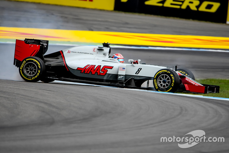 Romain Grosjean, Haas F1 Team VF-16, testacoda