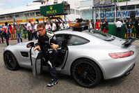 Bernd Maylander, FIA Safety Car Driver on the grid