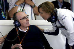 Sir Frank Williams, Williams, Teamchef; Claire Williams, Williams, Stellvertretende Teamchefin